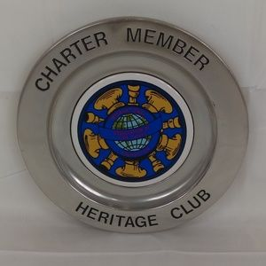 Wilton RWP Pewter Plate Fire Chiefs Club